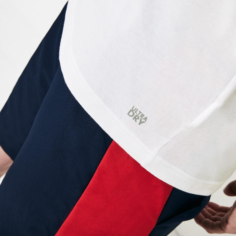 T-shirt Tennis Lacoste SPORT blanc/bleu crocodile oversize