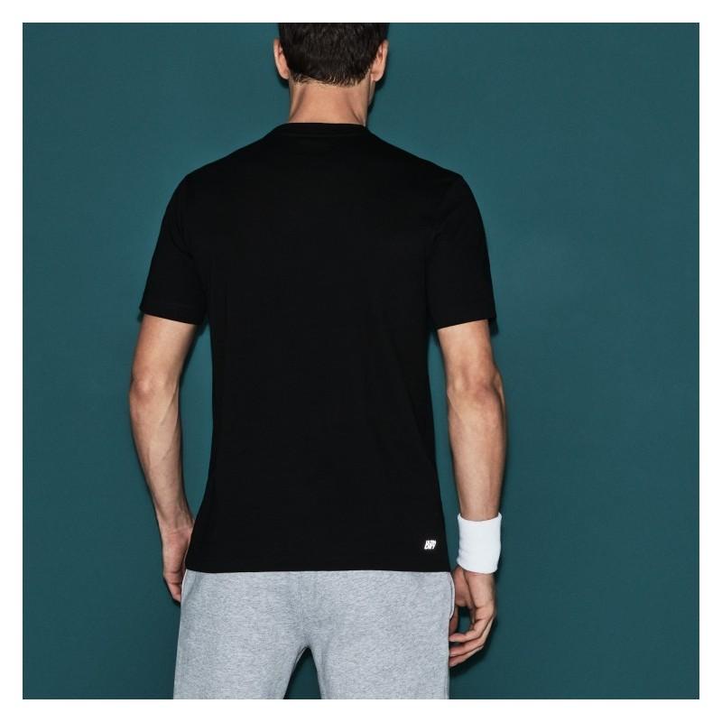 Tee Shirt Lacoste Sport noir