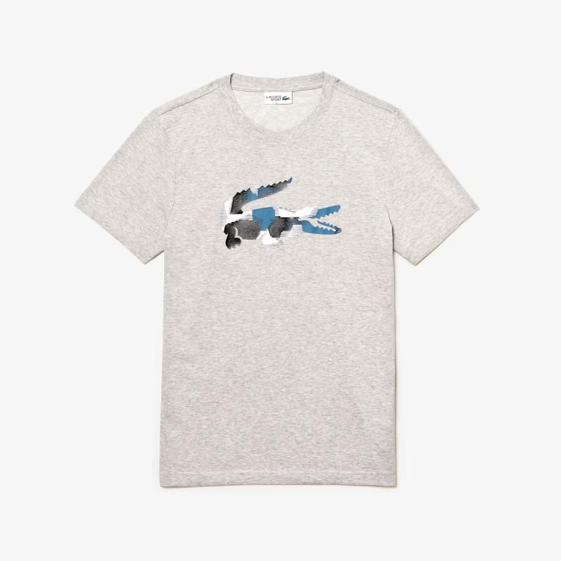 T-shirt Lacoste SPORT en jersey avec crocodile imprimé camouflage