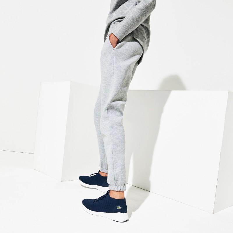Jogging Tennis Lacoste SPORT gris en molleton avec ceinture signature
