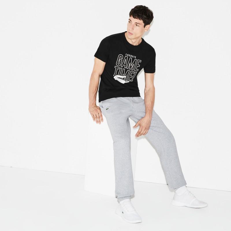 Pantalon de survêtement Tennis Lacoste SPORT gris en molleton uni