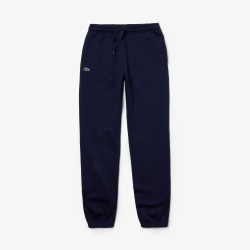 Pantalon de survêtement Tennis Lacoste SPORT bleu en molleton uni