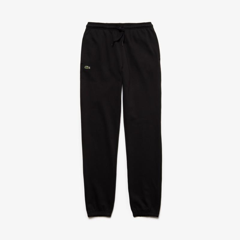 Pantalon de survêtement Tennis Lacoste SPORT noir en molleton uni