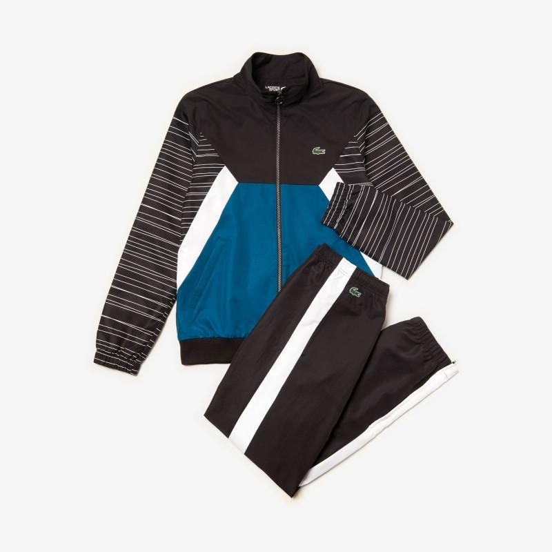 Ensemble de survêtement Tennis Lacoste SPORT noir/bleu/blanc
