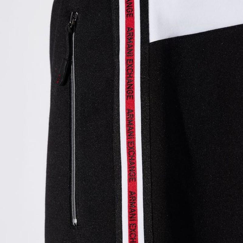 Pantalon de survêtement rouge et noir Armani Exchange