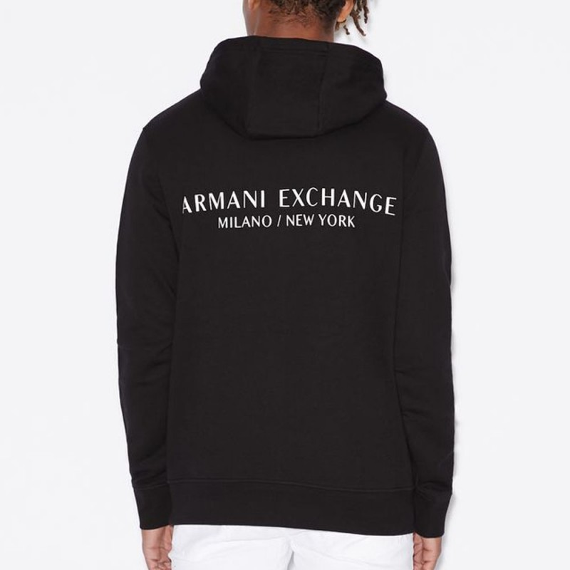 Sweat-shirt à capuche noir Armani Exchange