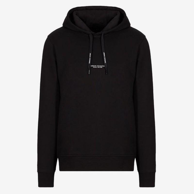 Sweat-shirt à capuche noir Armani Exchange