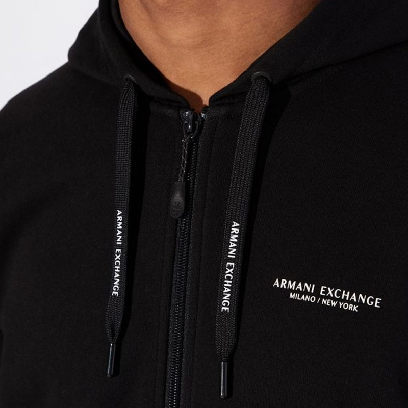 Sweat-shirt zippé noir Armani Exchange