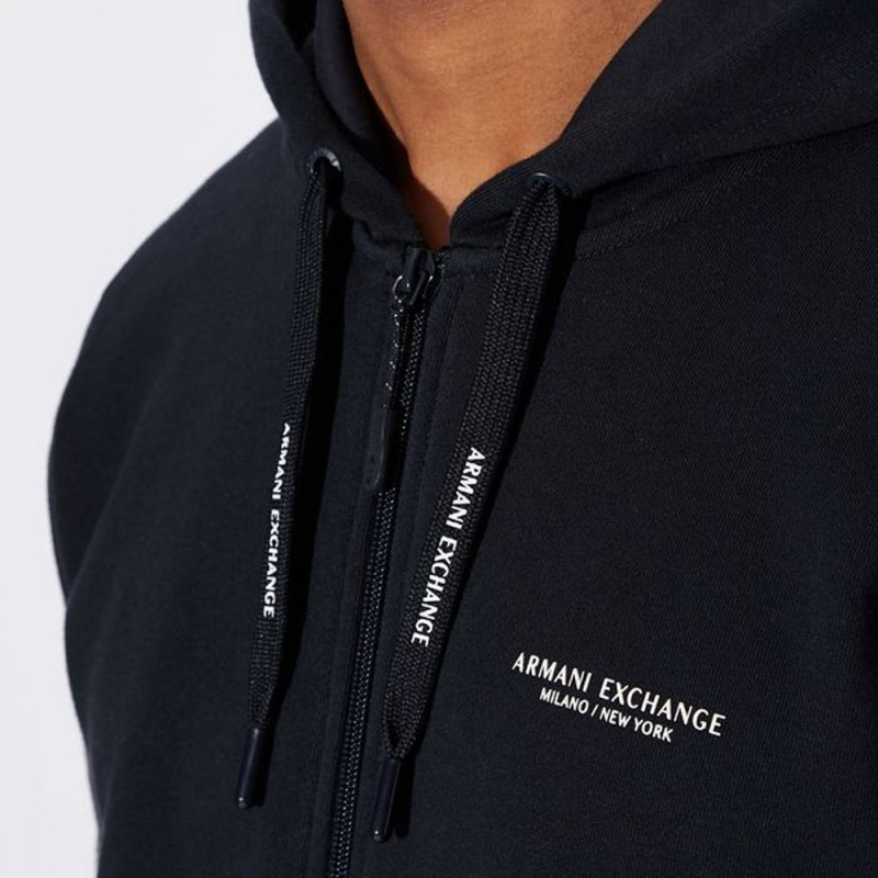 Sweat-shirt zippé bleu marine Armani Exchange