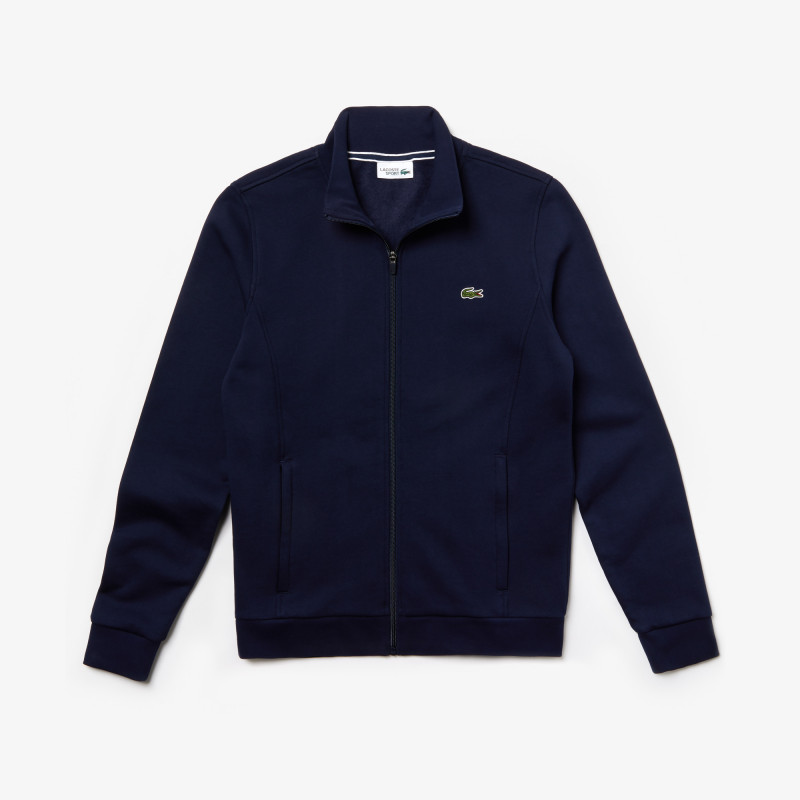Sweatshirt Lacoste SPORT bleu marine zippé en molleton