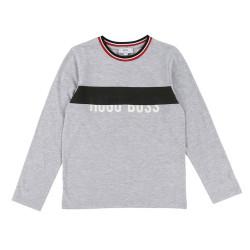 T-shirt Boss manches longues gris