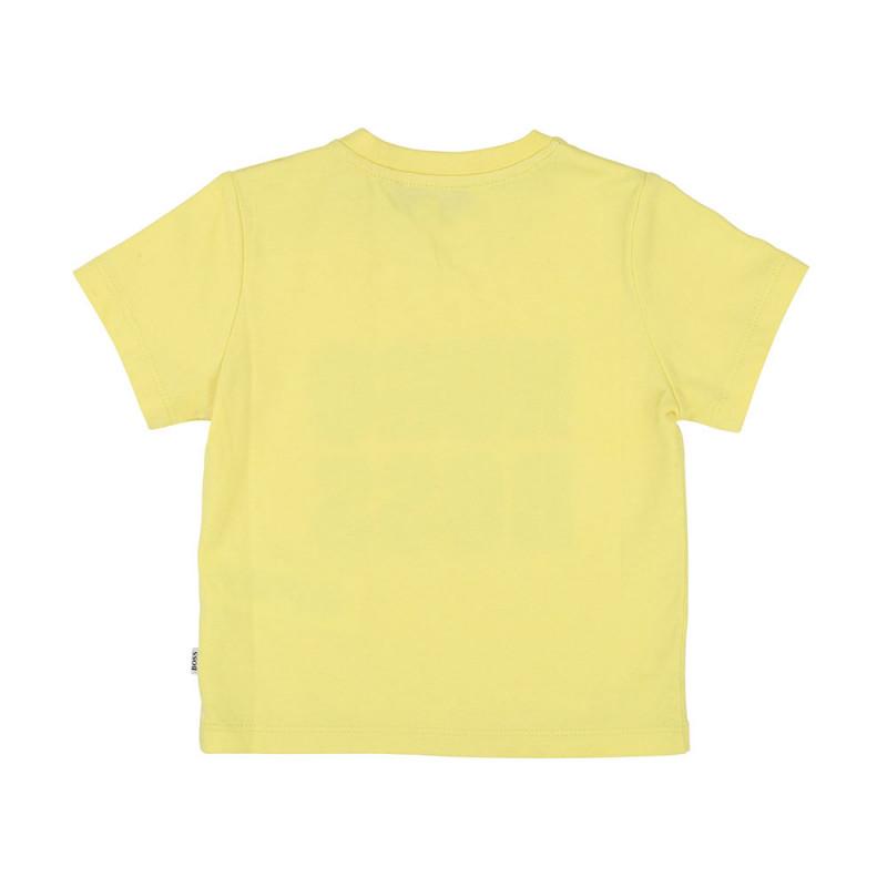 T shirt Boss bébé jaune