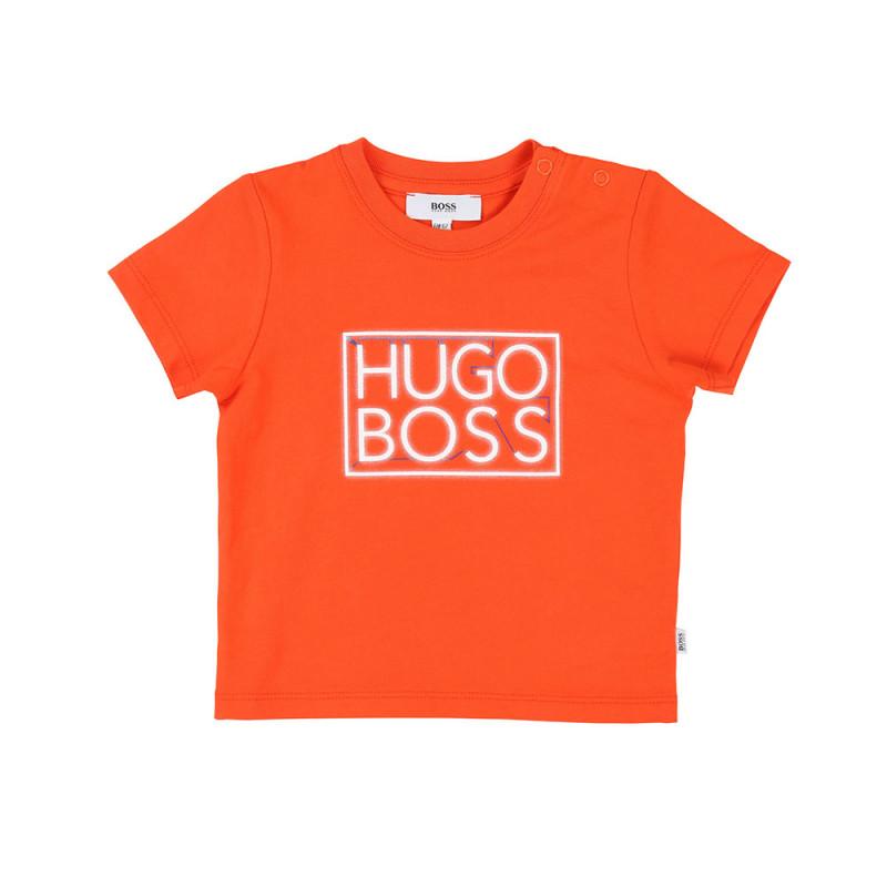 T-shirt Boss jersey coton Orange
