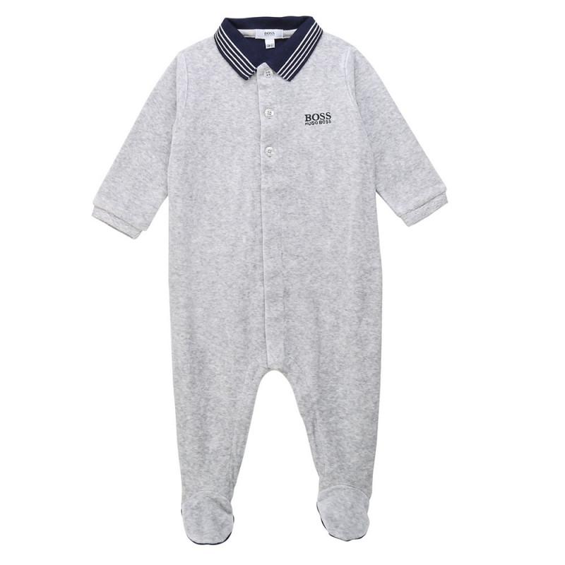 Pyjama bébé Boss gris bébé