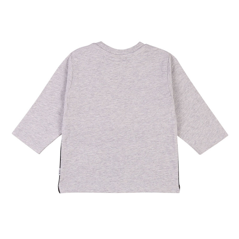 Tee-shirt manches longues Boss gris