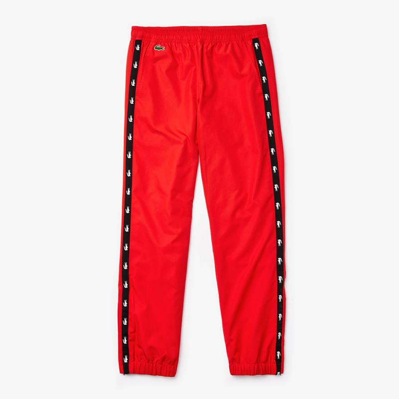 Pantalon de survêtement Lacoste SPORT rouge avec bandes croco