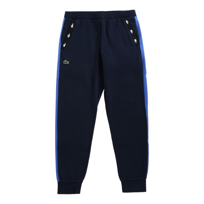 Pantalon de survêtement Tennis Lacoste SPORT bleu marine en molleton