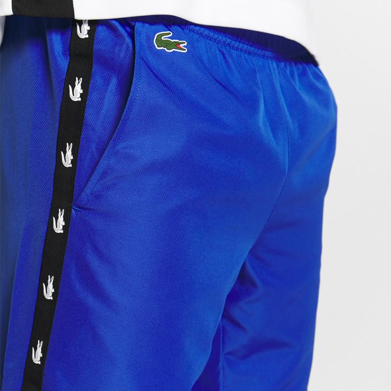 Pantalon de survêtement Lacoste SPORT bleu avec bandes croco