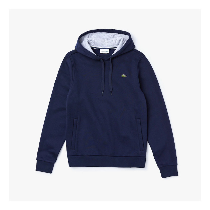 Sweat-shirt Lacoste bleue marine