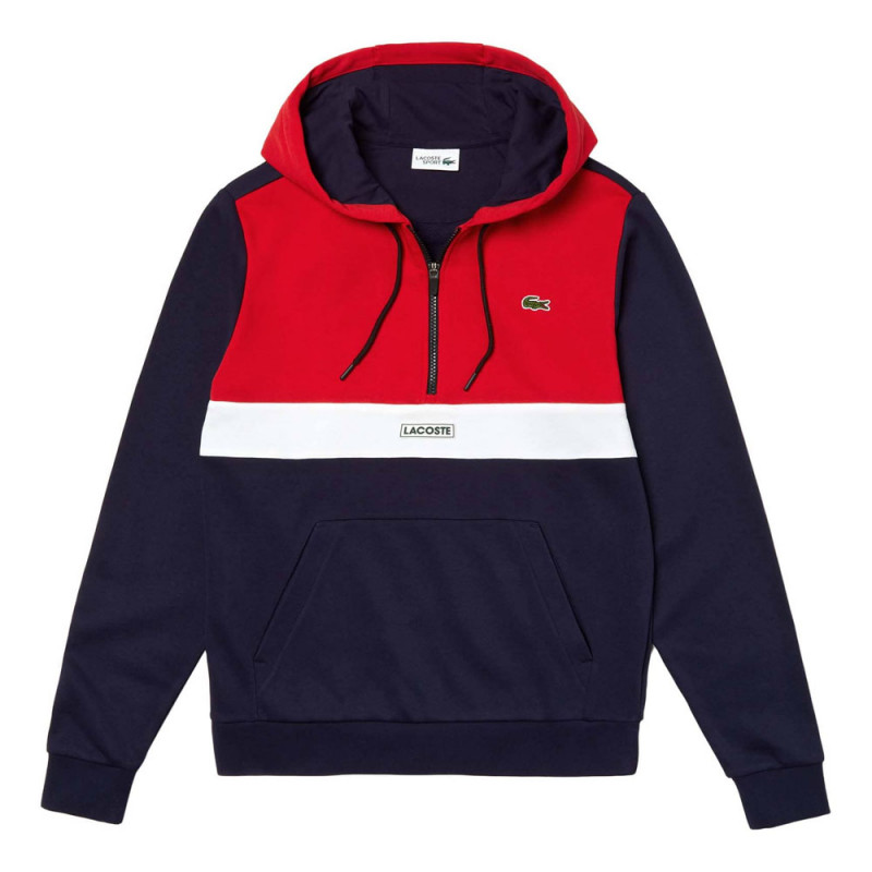 Sweat-shirt à capuche Lacoste Color Block