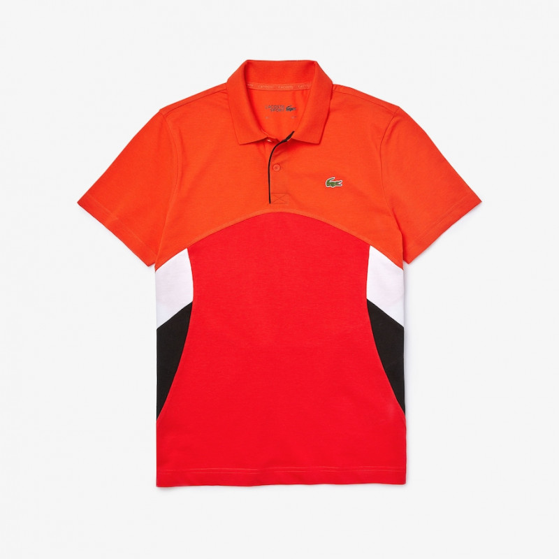 Polo Tennis Lacoste SPORT en coton ultra léger color-block
