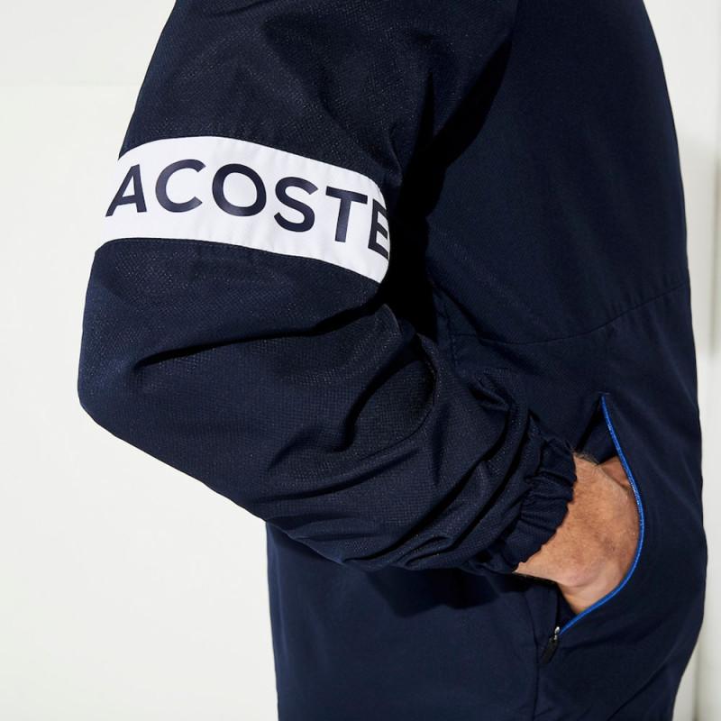 Veste zippée à capuche Lacoste SPORT Bleue marine